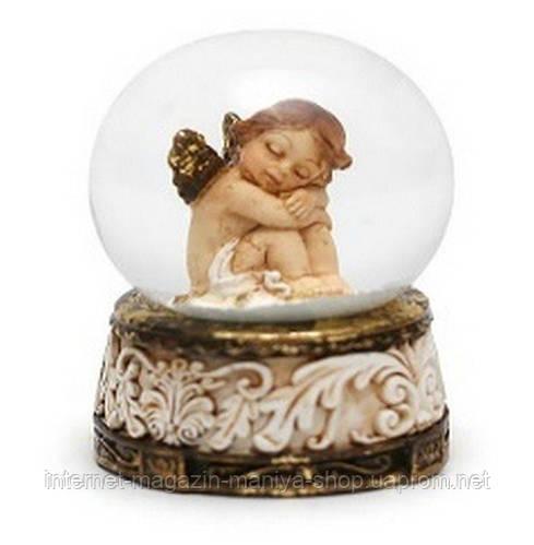 Декоративный водяной шар 5см Ангел антик