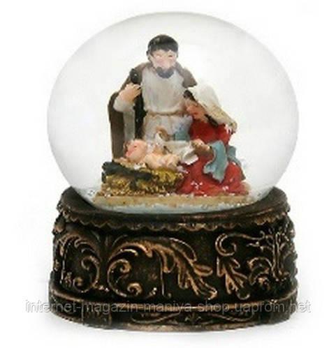 Декоративный водяной шар 7см Рождественский Вертеп