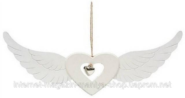 Декор подвесной Сердце с крыльями