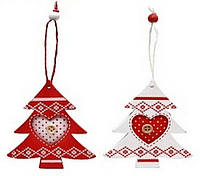 Набор елочных украшений в форме елочки (2) в асс 2