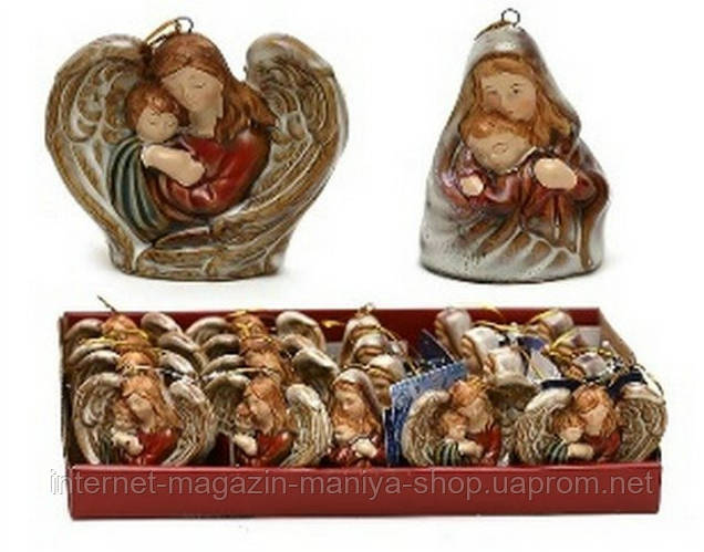 Рождественское украшение из фарфора 7-7,6см в асс 2