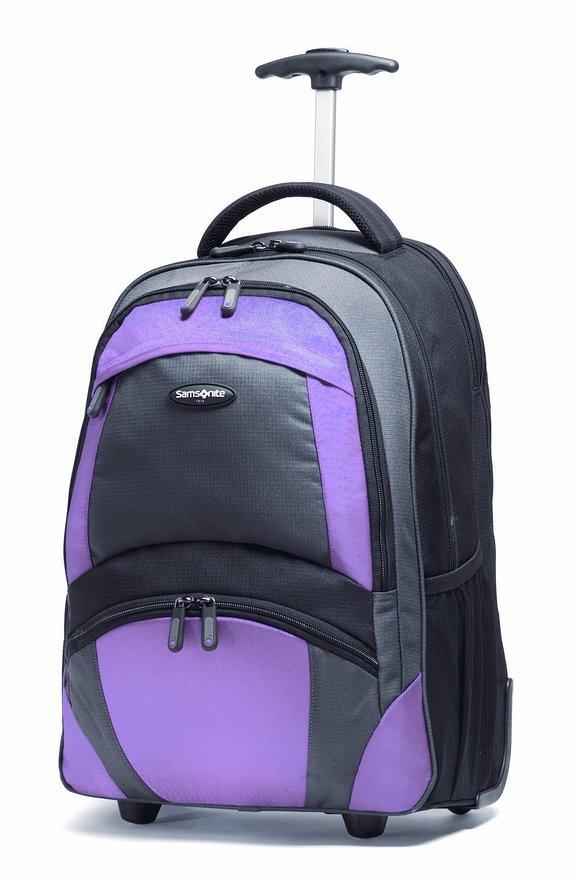 Рюкзак на колесах Samsonite - 33 л (черный/бордо)