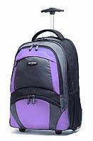 Рюкзак на колесах Samsonite - 33 л (черный/бордо), фото 1