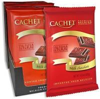 Шоколад бельгийский Cachet 32% Milk Chocolate Bars ( молочный) 300г