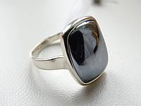 Кольцо серебряное с гематитом