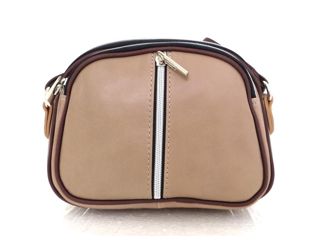 Маленькая женская сумочка. 100% кожа Италия Капучино, фото 1
