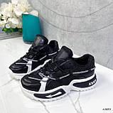Женские кроссовки черные 13683, фото 2