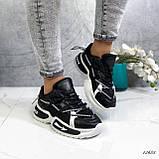 Женские кроссовки черные 13683, фото 3