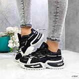 Женские кроссовки черные 13683, фото 8