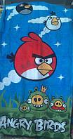 Пляжное, банное полотенце Angry Birds велюр-махра Турция