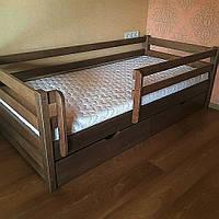 """Односпальная кровать """"Тахта"""" - Маркус в тонировке, массив ольхи"""