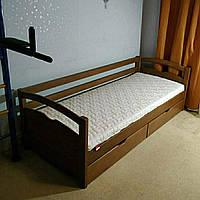 """Односпальная кровать """"Тахта"""" - Фирина в тонировке, массив ольхи"""
