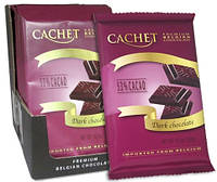 Бельгийский шоколад Cachet 53% Dark Chocolate Bars черный шоколад 300г