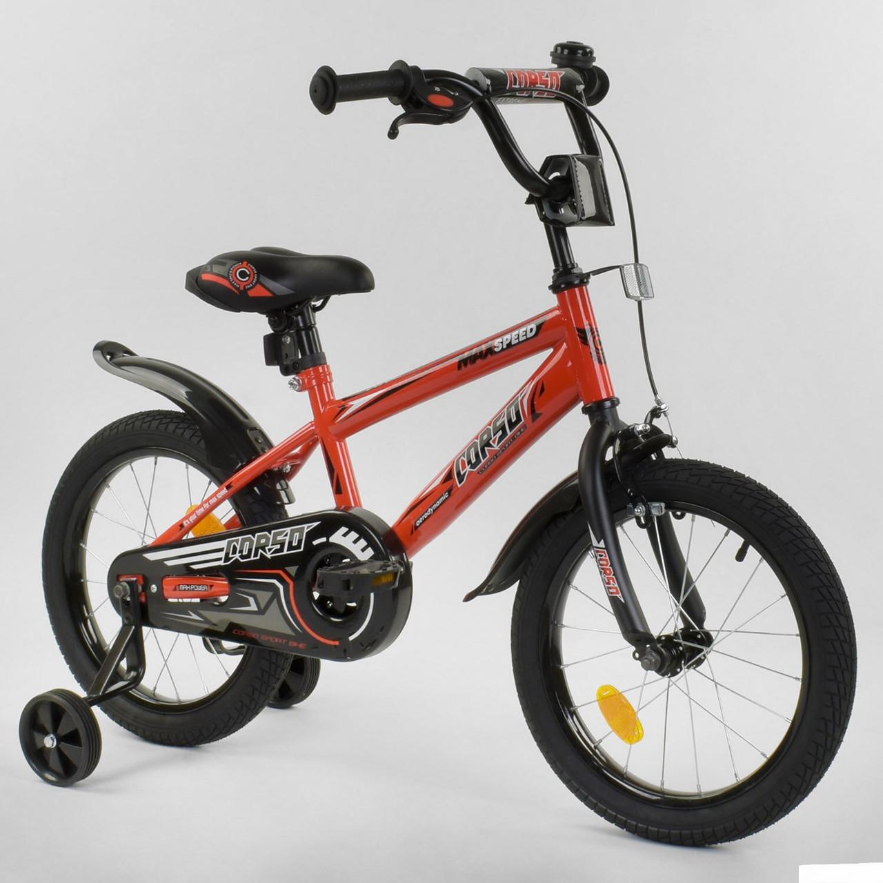 """Велосипед 16"""" дюймов 2-х колёсный """"CORSO"""" EX-16 N 5083"""