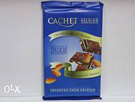 Бельгийский шоколад Cachet 32% Молочный шоколад с мигдалем 300г