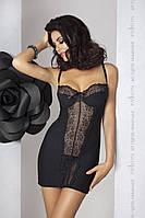 Сорочка приталенная с чашечками ZOJA CHEMISE black L/XL - Passion Exclusive, трусики, фото 1
