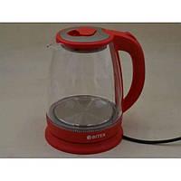 Электро чайник ВIТЕК ВТ-3110 2400W 1,8L стекло с подсветкой Красный
