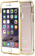Бампер SHENGO SG03 Metal Bumper iPhone 5 Gold #I/S