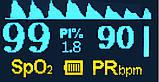 Пульсометр оксиметр на палец (пульсоксиметр) AB-80 Blue, фото 2