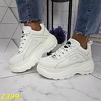 Кроссовки на высокой платформе белые, фото 1
