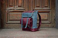 Шкіряний міський рюкзак для ноутбука. Шкіряний спортивний рюкзак