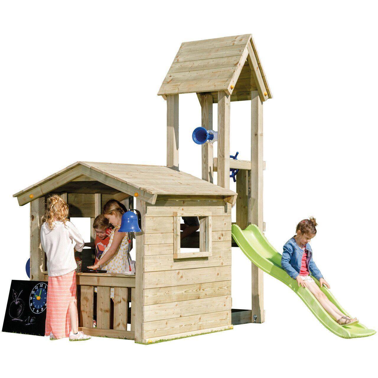 Дитяча ігрова вежа з будиночком з дерева LOOKOUT