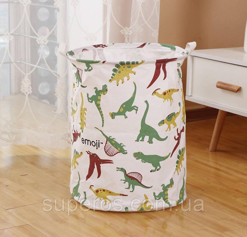Корзина для игрушек и белья 40х50 см Динозавры