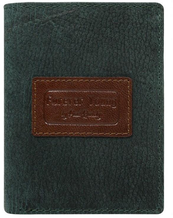 Мужское винтажное портмоне из кожи ALWAYS WILD зеленое