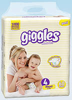 Подгузники детские Maxi (4), 7-18кг, Giggles, Jumbo, 60 шт.
