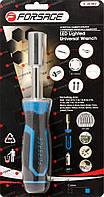 Рукоятка с подстветкой 4LED и универсальным захватом болтов и гаек (4-15мм, L-220мм), в блистере Forsage