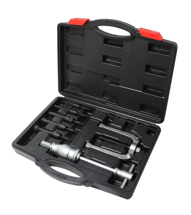 Комплект съемников внутренних подшипников цанговый с обратным молотком,11 предметов (8-34мм), в кейсе Partner