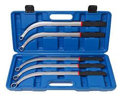 Набор ключей накидных удлиненных изогнутых(L-470мм; 13,15, 16, 17, 19мм) 5 предметов, в кейсе ROCKFORCE