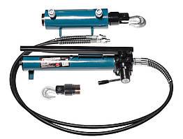 Комплект гидравлического оборудования прямого и обратного действия 40т (насос, цилиндр + 2 сменных крюка)