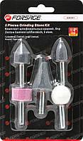 Набор камней абразивных, 5 предметов(хвостовик 6мм) Forsage F-GSK501