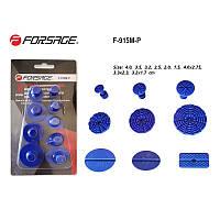 Набор адаптеров пластиковых для беспокрасочного удаления вмятин 9 предметов,в блистере Forsage F-915M-P
