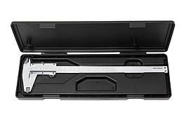Штангенциркуль (0-200мм, 0.02мм; внутр. Ø, наруж. Ø + глубиномер), в пластиковом футляре ROCKFORCE RF-5096P2