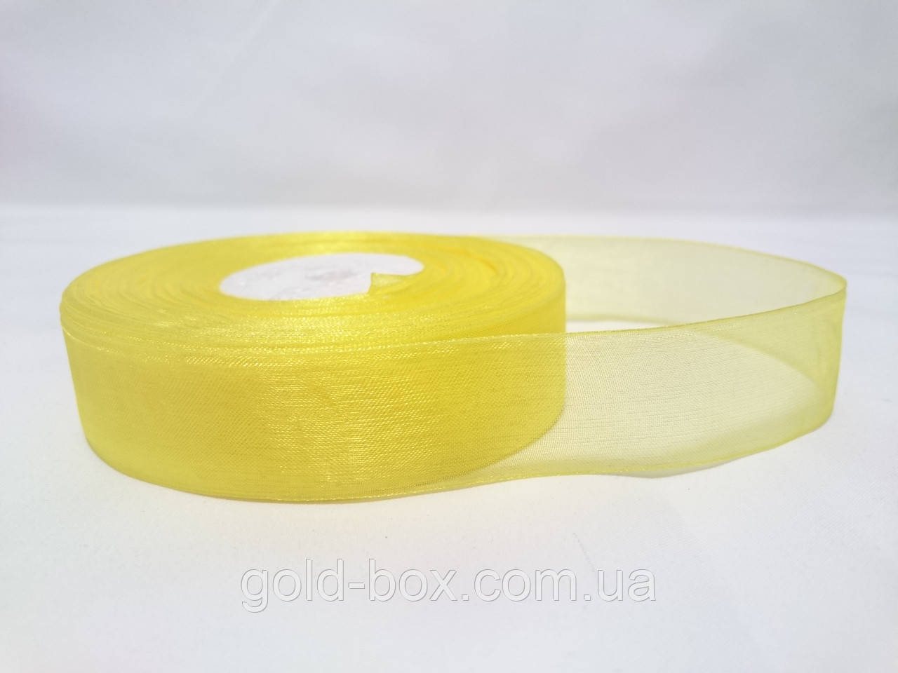 Лента органза лимонная 2,5см
