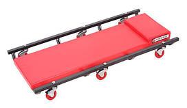 Лежак ремонтный подкатной на 6-ти колесах (425х920мм) Forsage F-TR6451