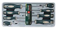 Набор отверток магнитных S2, 8 предметов(PH:1х75, 2x38, 2х100, 3х150мм; SL: 5.5х75, 6.5х38, 6.5х100, 8х150мм)в