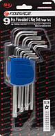 Набор ключей Г-образных TORX 5-лучевых, 9 предметов(TS10, TS15, TS20, TS25, TS27, TS30, TS40, TS45, TS50 с