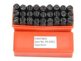 Набор буквенных штампов 27 предметов (6мм)(латиница) Partner PA-6863-6