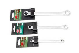 Ключ накидной Е-профиль Е6хЕ8, на пластиковом держателе ROCKFORCE RF-7560608