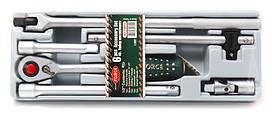 """Набор инструментов 6 предметов,1/2"""" (трещотка, удлинители, воротки, кардан) в лотке ROCKFORCE RF-T40612"""