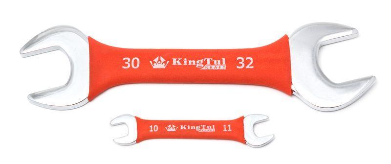 Ключ рожковый 16х17мм в прорезиненной оплетке KingTul kraft KT-101617k(321617)