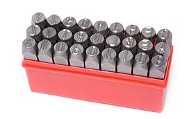Набор штампов буквенных 5мм, 27 предметов, в пластиковом футляре ROCKFORCE RF-02705