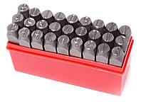 Набор штампов буквенных 3мм, 27 предметов, в пластиковом футляре Forsage F-02703
