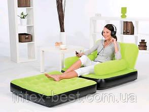 Надувное кресло Bestway 67277B Голубое, фото 3