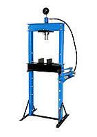 Пресс гидравлический 20т с манометром и выносным насосом (размер:182x70x60см,диапазон работ: 0-115см,ход