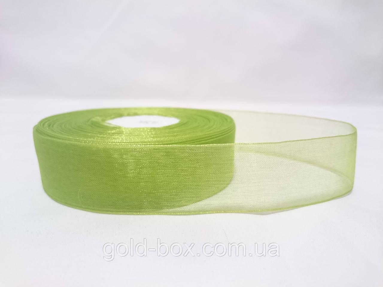 Лента органза оливка 2,5см