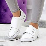 Ультра модные белые женские спортивные кеды мокасины слипоны на липучке, фото 8